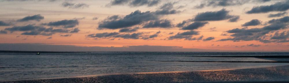 Seeblick gen Norden am Baltrumer Strand.