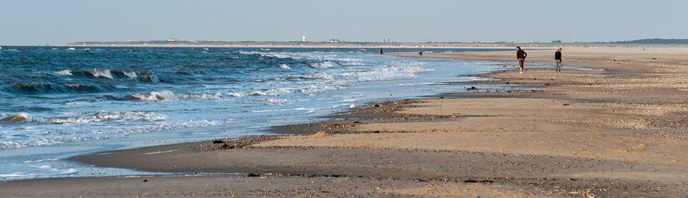 Blick nach Langenoog vom Baltrumer Strand.